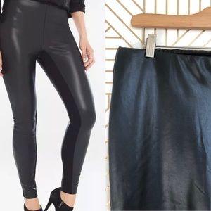 Black Label CHICO'S Pants Faux Leather Zippers